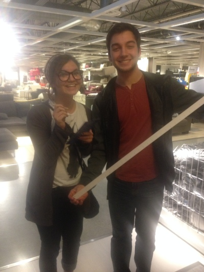 Joey and I at Ikea before my hopes and dreams shattered like an adorably printed china plate